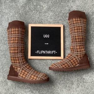 🎉HP🎉 🆕✨NWOT UGG Brown Plaid Boots